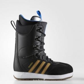 Homme Adidas Originals Samba ADV Bottes Core Noir, Métallique Doré, Running Blanc BW0990