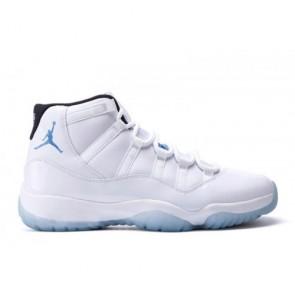 Air Jordan 11 Retro Blanc / Noir / Legend Bleu Hommes Chaussures 378037-117