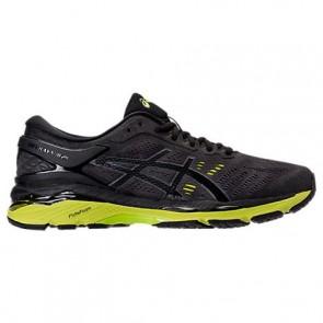 Homme Asics GEL-Kayano 24 Noir, Gecko vert, Phantom Chaussures de course T749N 085