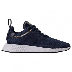 Navy / Blanc Adidas NMD R2 Homme Chaussures de sport AC8195