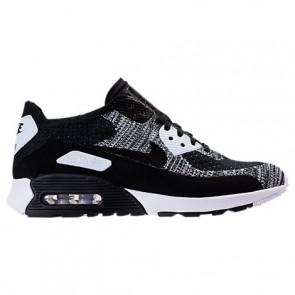 Nike Air Max 90 Ultra 2.0 Flyknit Femme Chaussures Noir, Blanc 881109 002