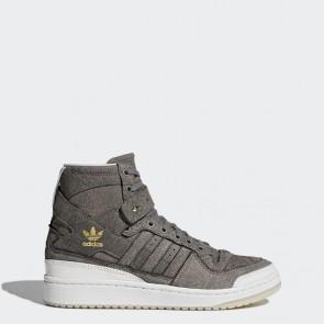 Homme Adidas Originals Forum Hi Crafted Chaussures Noir, Running Blanc, Doré Métallique BW1253