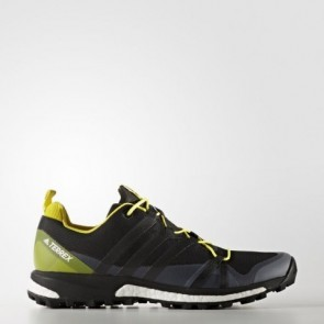 Hommes Adidas Terrex Agravic Chaussures BB0961 - Core Noir / Brillant Jaune