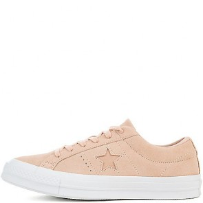Femmes Converse One Star Suede Ox Dusk Rose / Dusk Rose / Blanc Chaussures